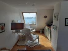 Wohnbereich der Ferienwohnung 1 mit Meerblick